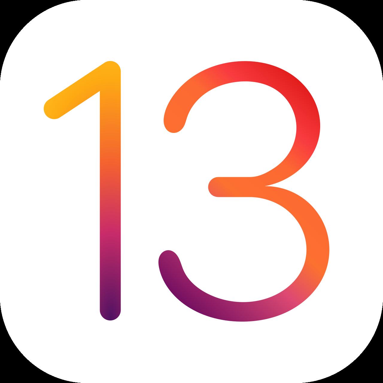 iOS 13 logo